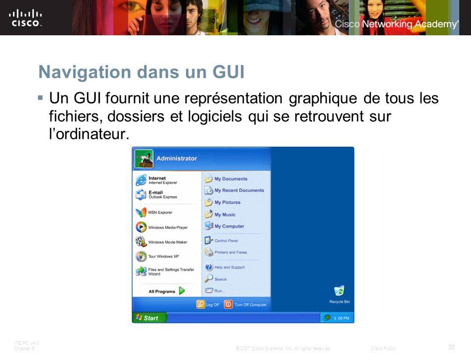 Navigation dans un GUI