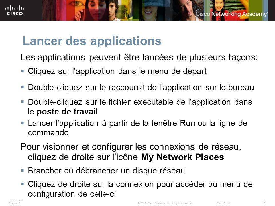 Lancer des applications