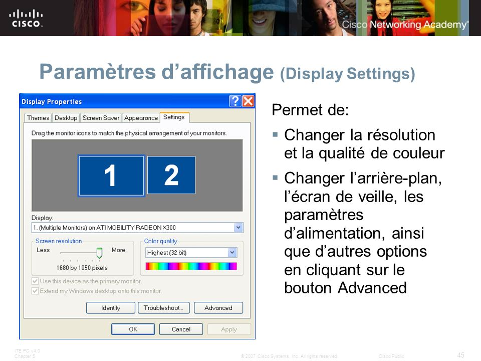 Paramètres d'affichage (Display Settings)