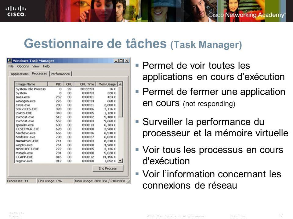 Gestionnaire de tâches (Task Manager)