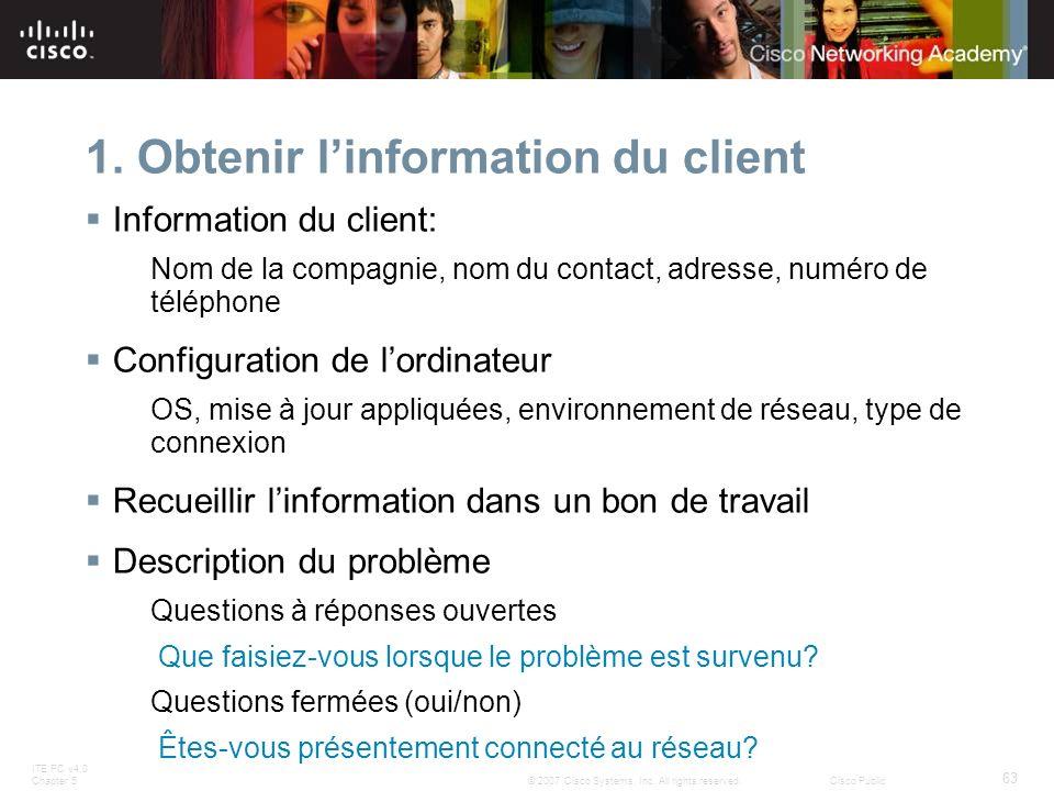 1. Obtenir l'information du client