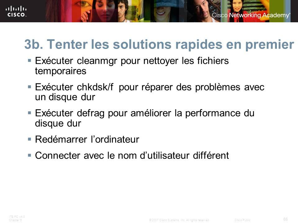 3b. Tenter les solutions rapides en premier