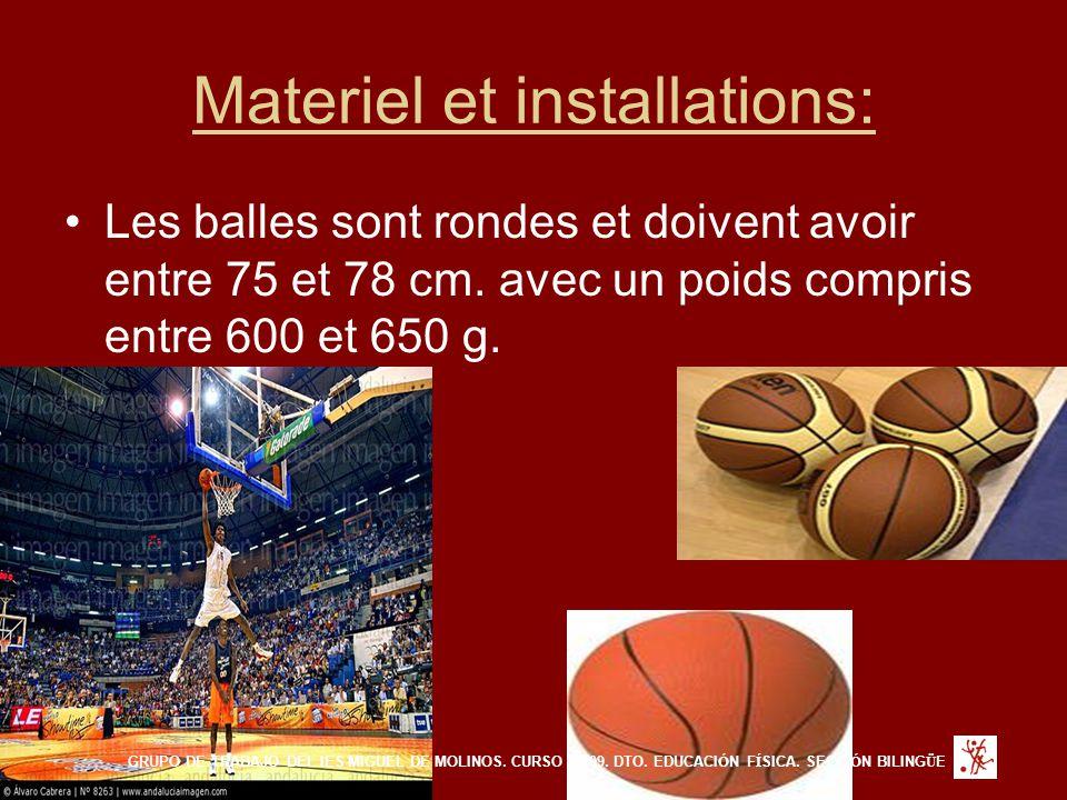Materiel et installations: