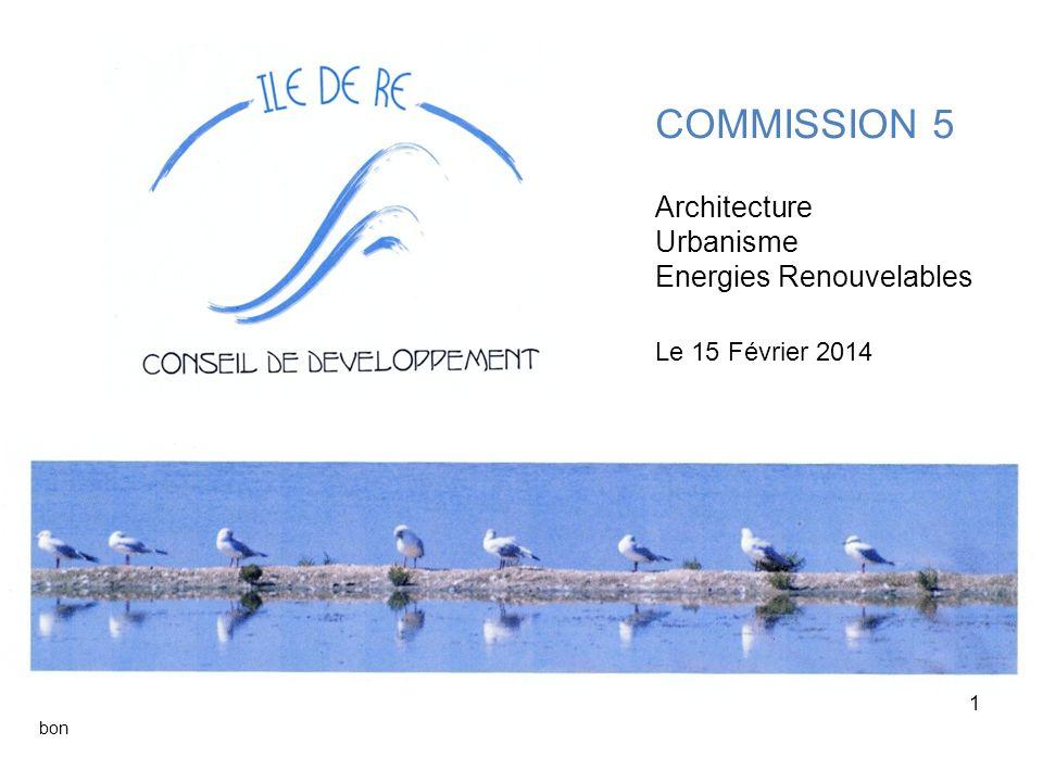 COMMISSION 5 Architecture Urbanisme Energies Renouvelables