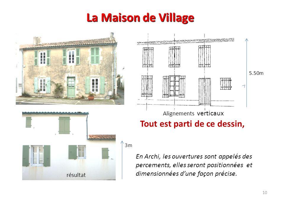 La Maison de Village Tout est parti de ce dessin,