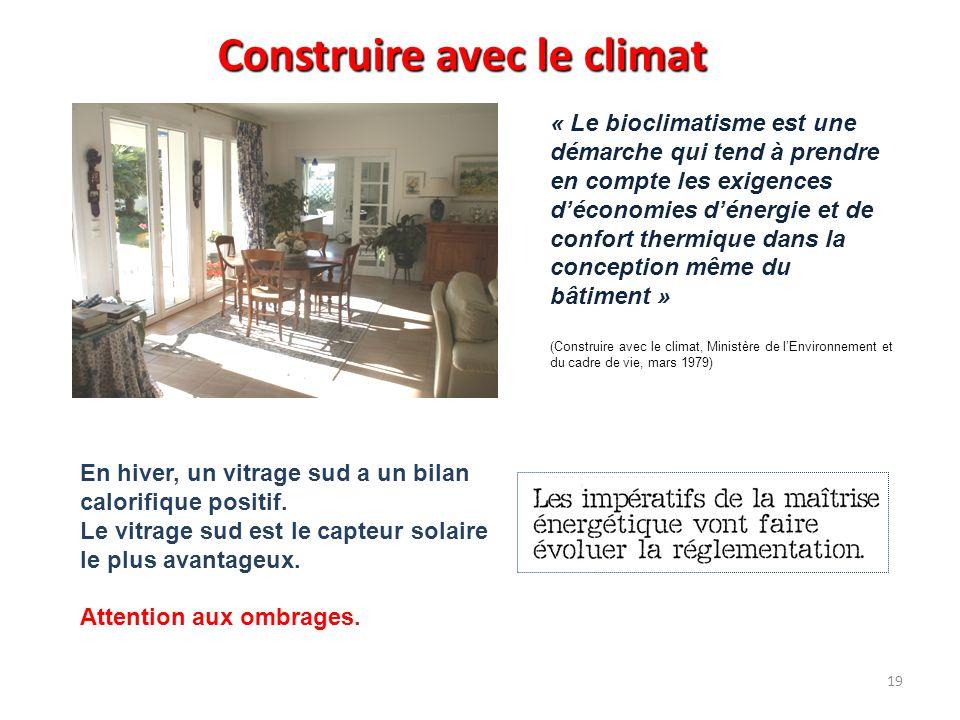 Construire avec le climat