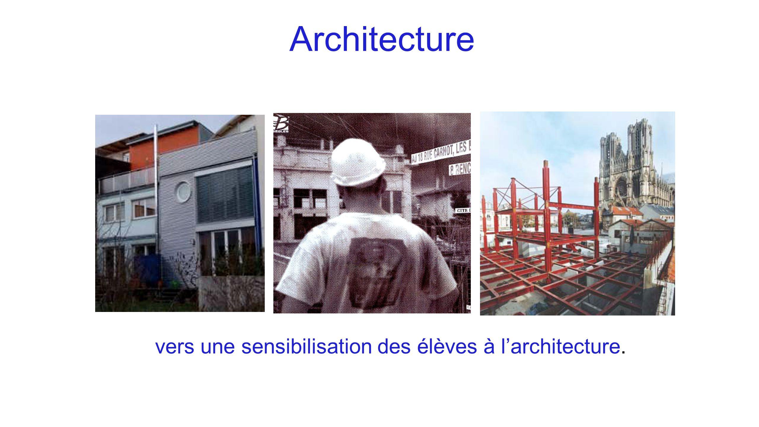 Architecture vers une sensibilisation des élèves à l'architecture.