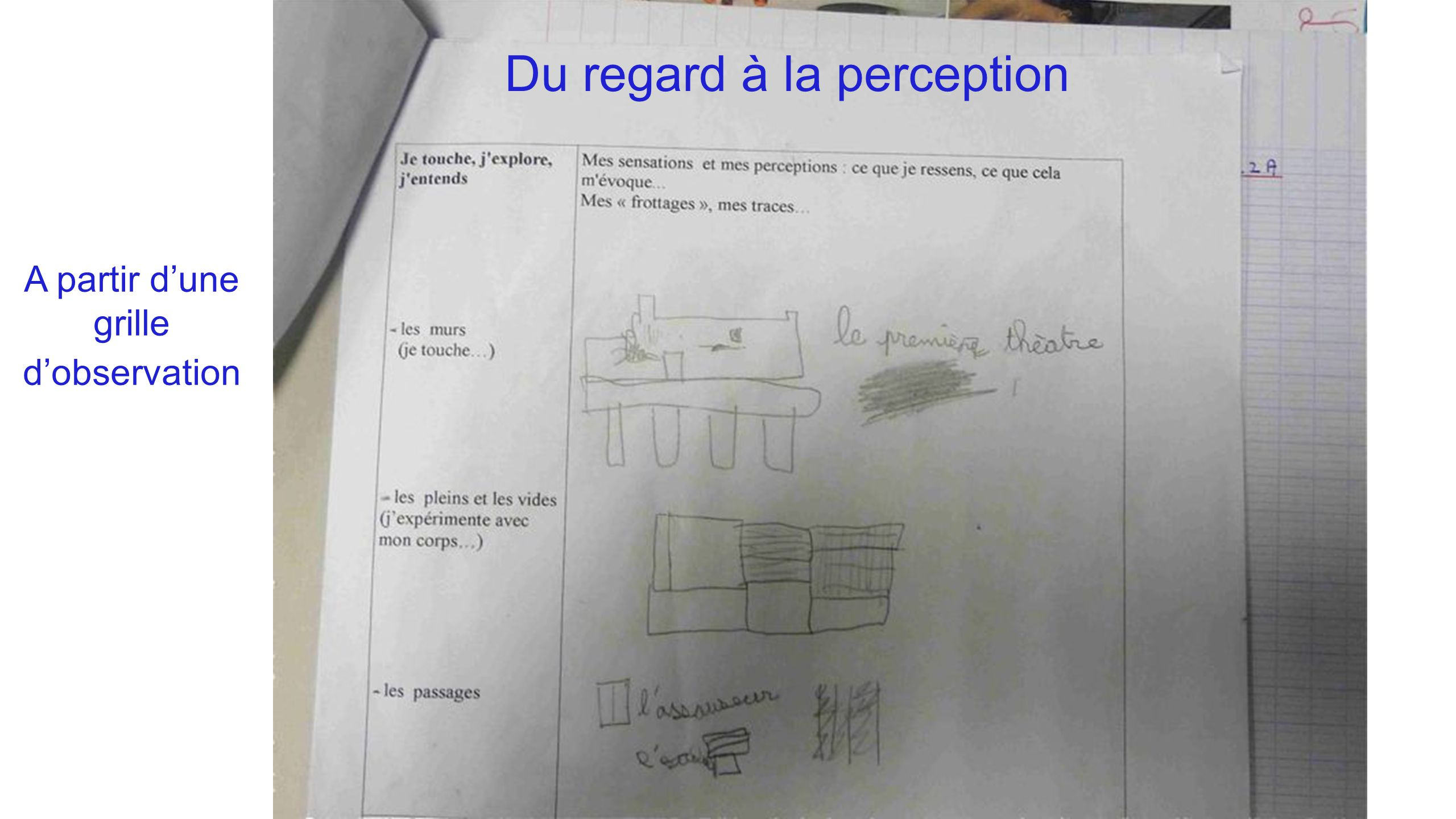 Du regard à la perception