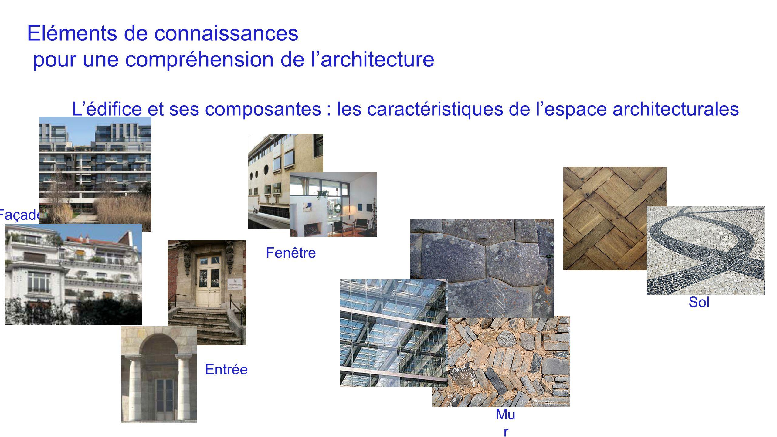 Eléments de connaissances pour une compréhension de l'architecture