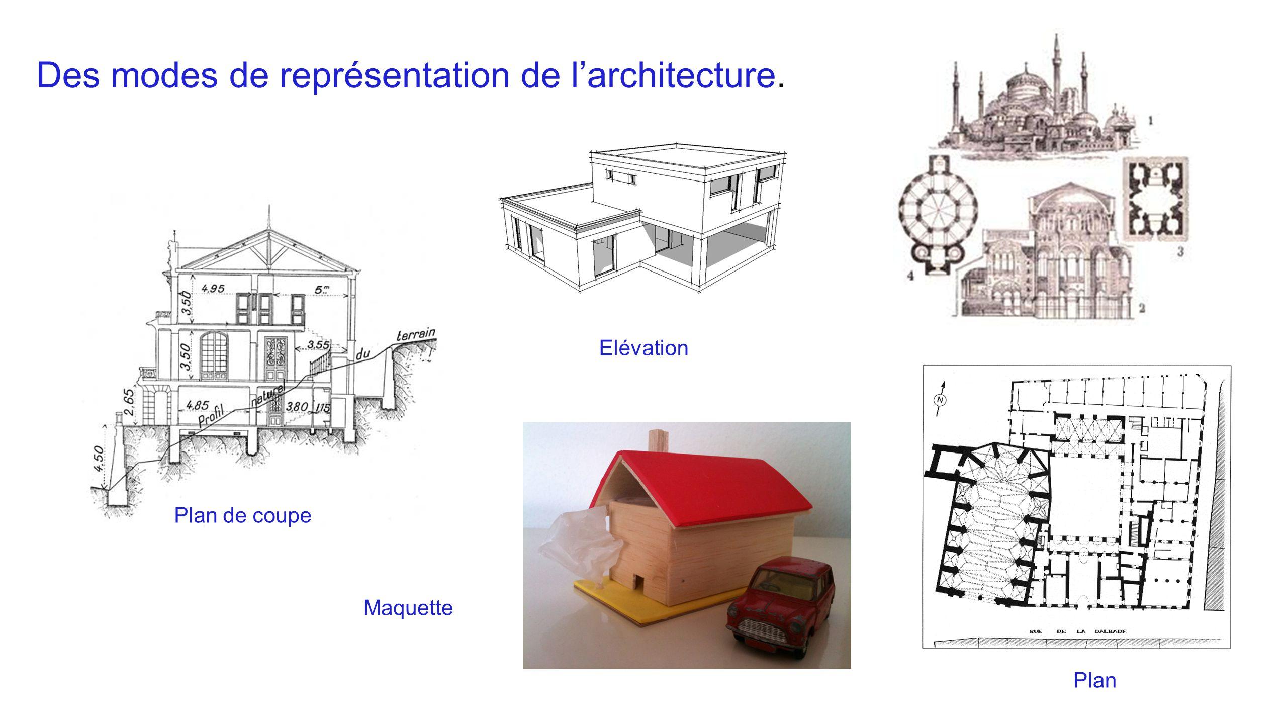 Des modes de représentation de l'architecture.