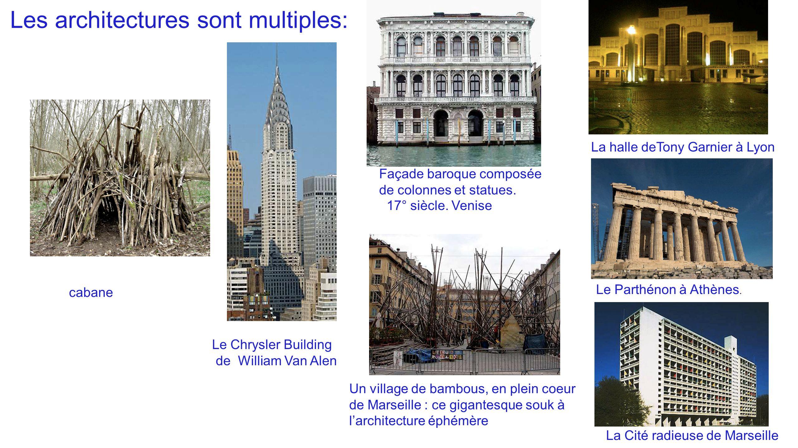 Les architectures sont multiples: