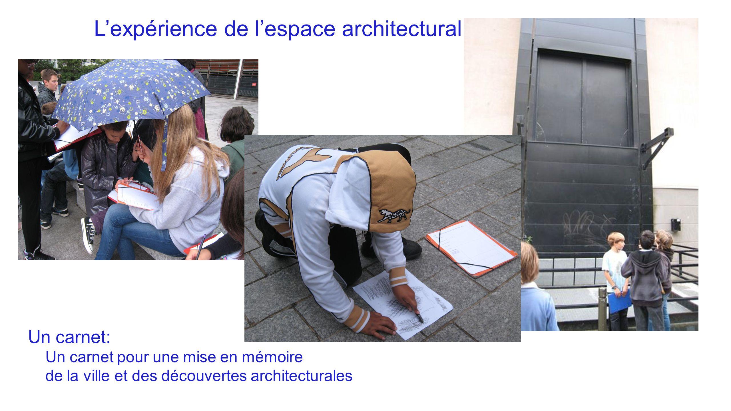 L'expérience de l'espace architectural