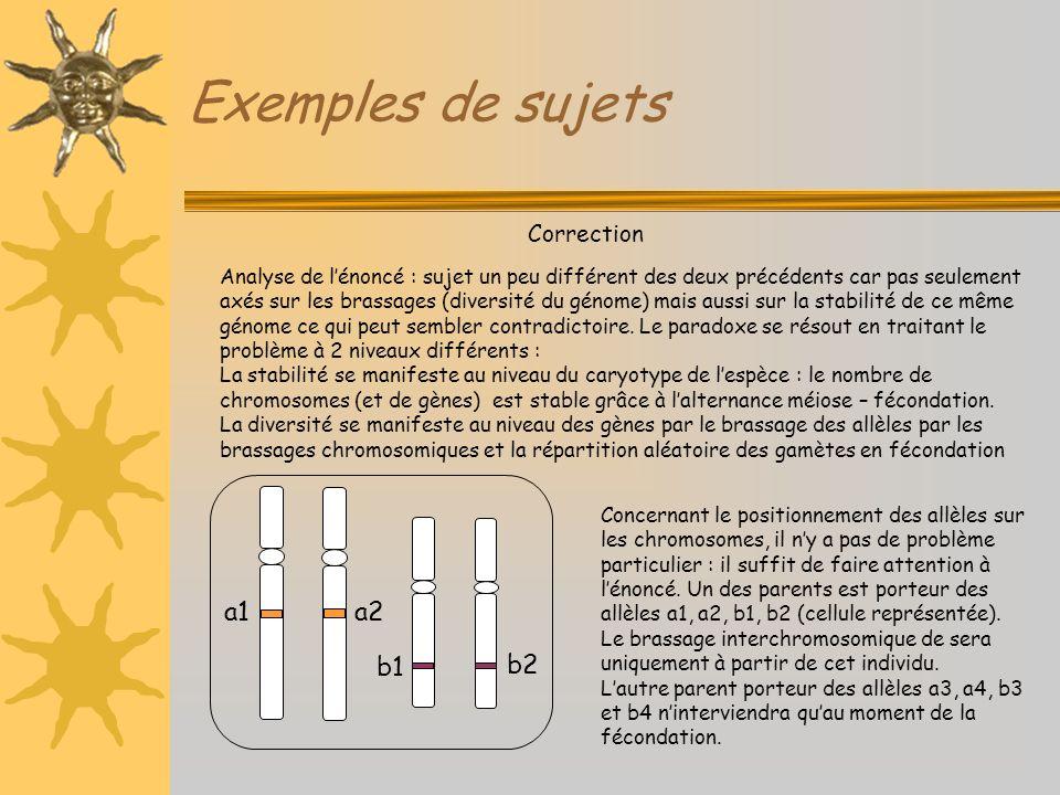 Exemples de sujets a1 a2 b1 b2 Correction