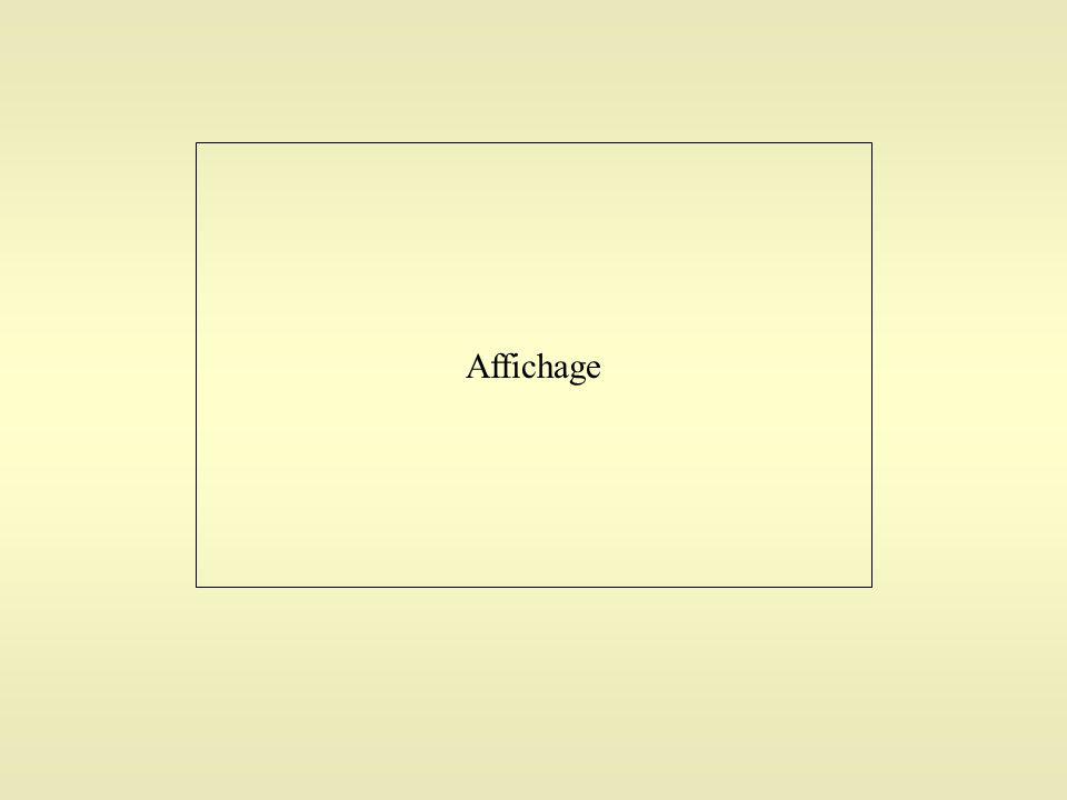 Affichage