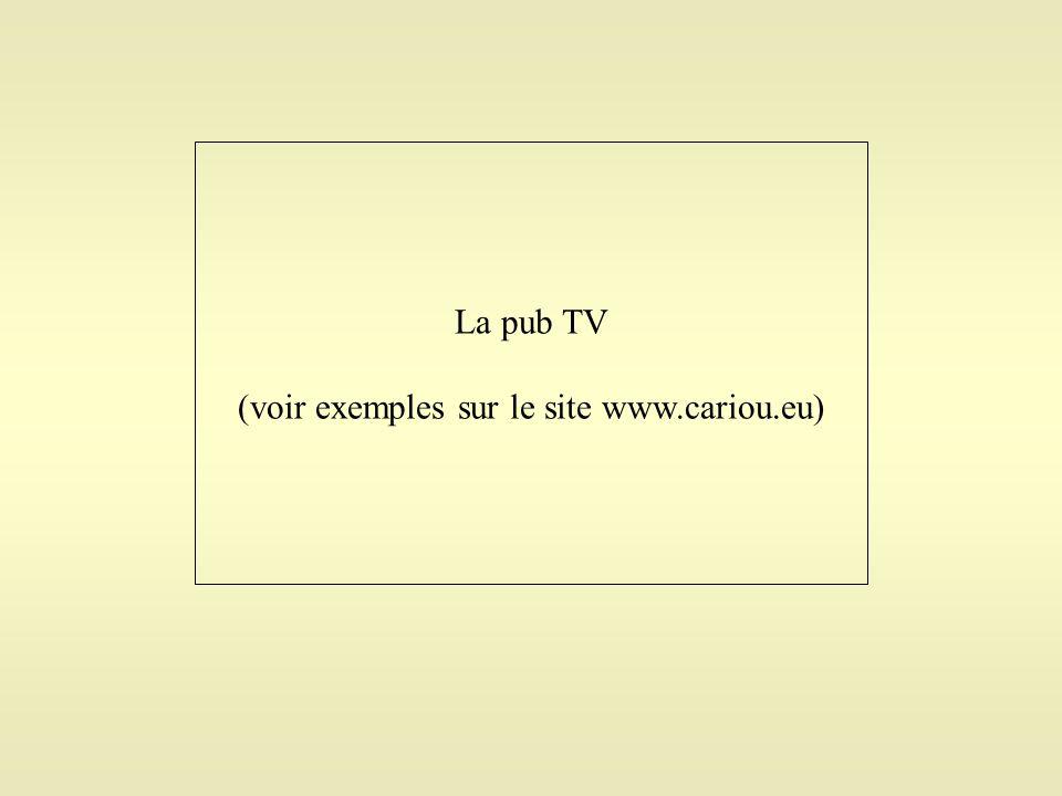 (voir exemples sur le site www.cariou.eu)