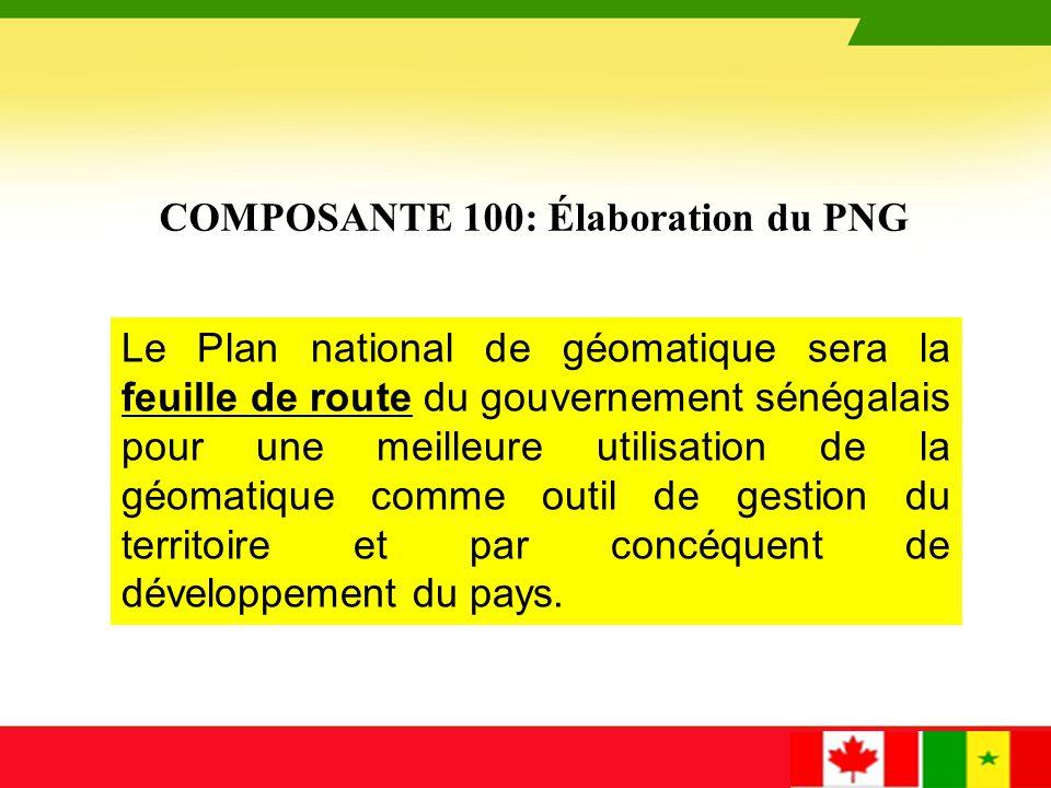 COMPOSANTE 100: Élaboration du PNG