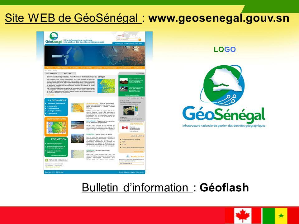 Site WEB de GéoSénégal : www.geosenegal.gouv.sn