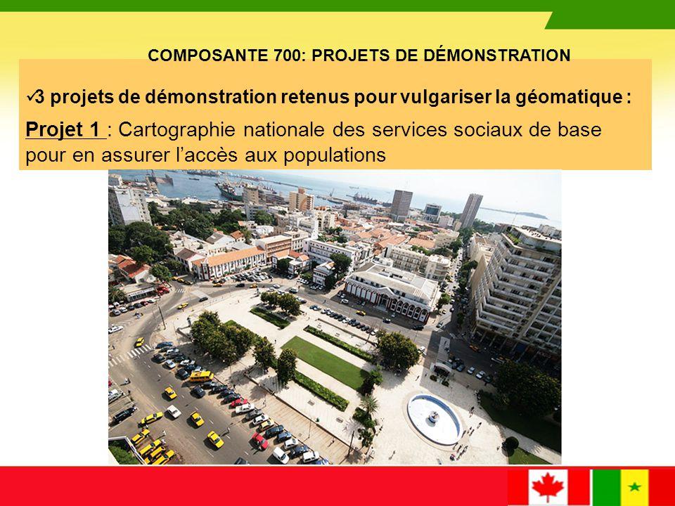 COMPOSANTE 700: PROJETS DE DÉMONSTRATION
