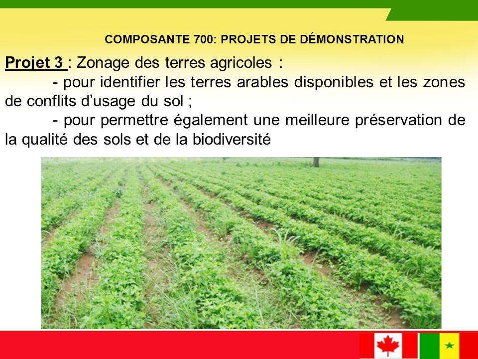Projet 3 : Zonage des terres agricoles :