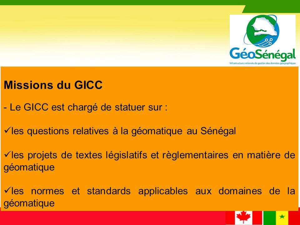 Missions du GICC Le GICC est chargé de statuer sur :