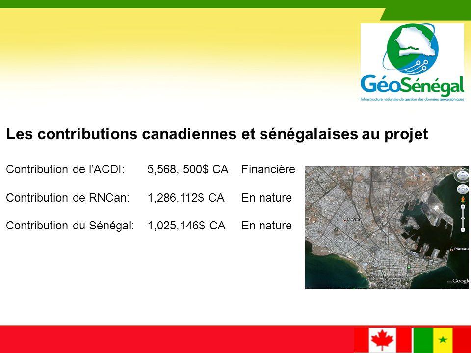 Les contributions canadiennes et sénégalaises au projet