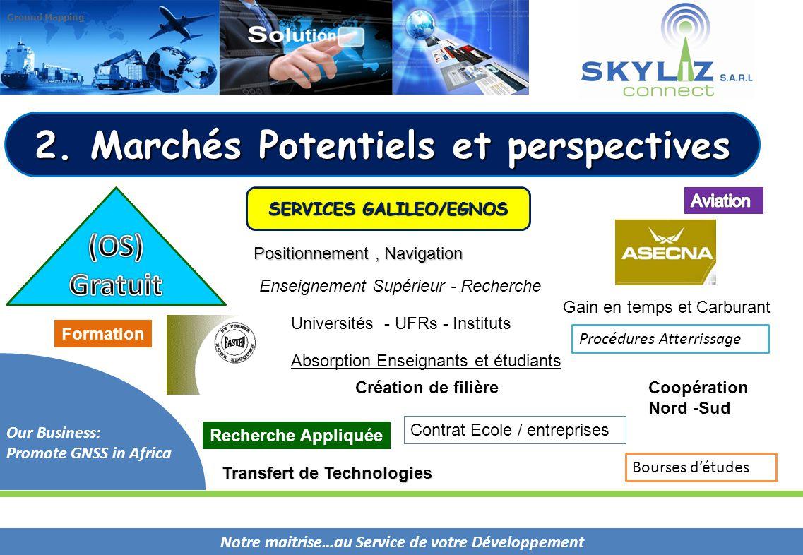 2. Marchés Potentiels et perspectives SERVICES GALILEO/EGNOS
