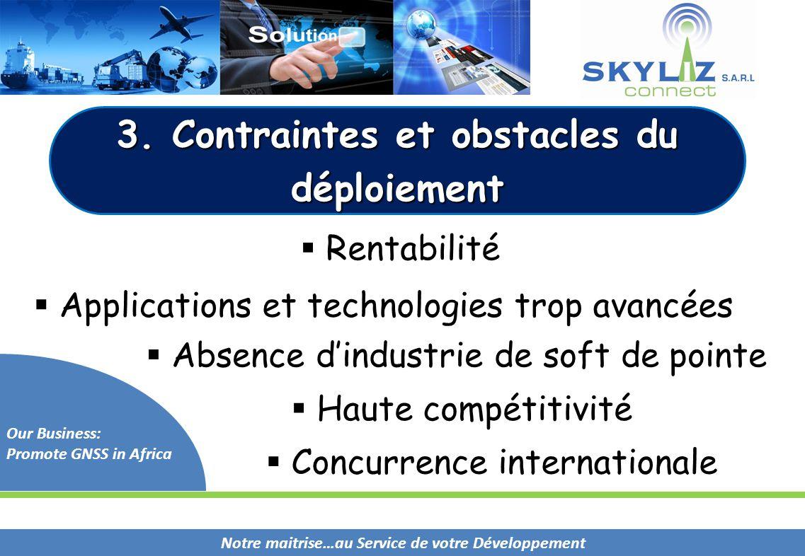 3. Contraintes et obstacles du déploiement
