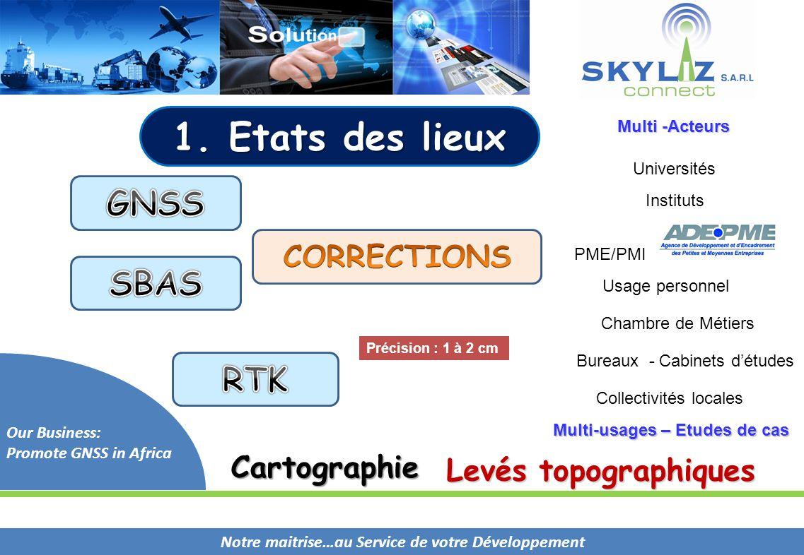 1. Etats des lieux GNSS SBAS RTK CORRECTIONS Cartographie