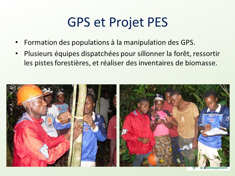 GPS et Projet PES Formation des populations à la manipulation des GPS.