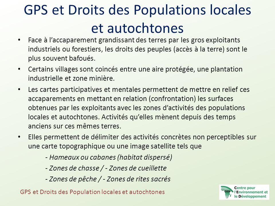 GPS et Droits des Populations locales et autochtones