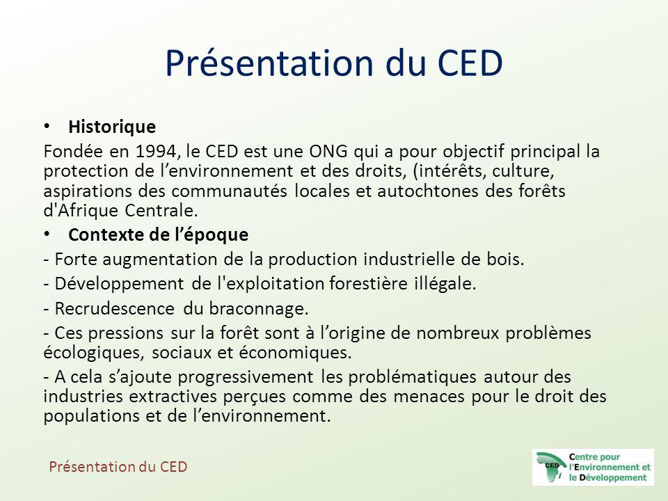 Présentation du CED Historique