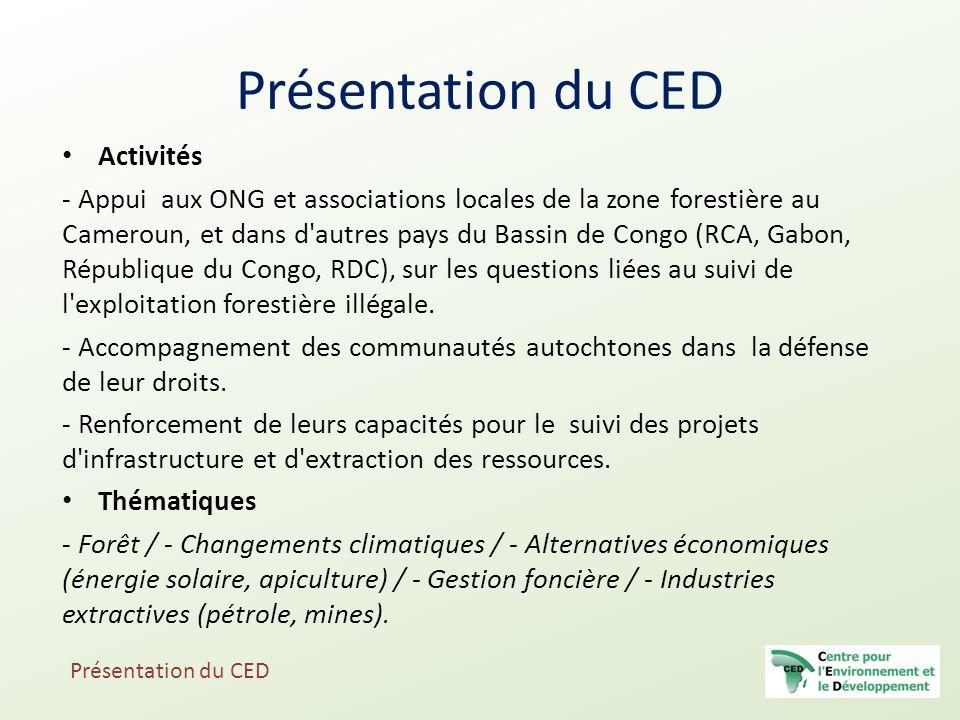 Présentation du CED Activités