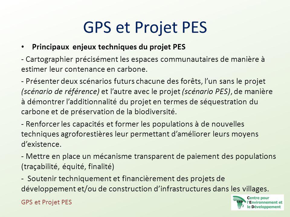 GPS et Projet PES Principaux enjeux techniques du projet PES
