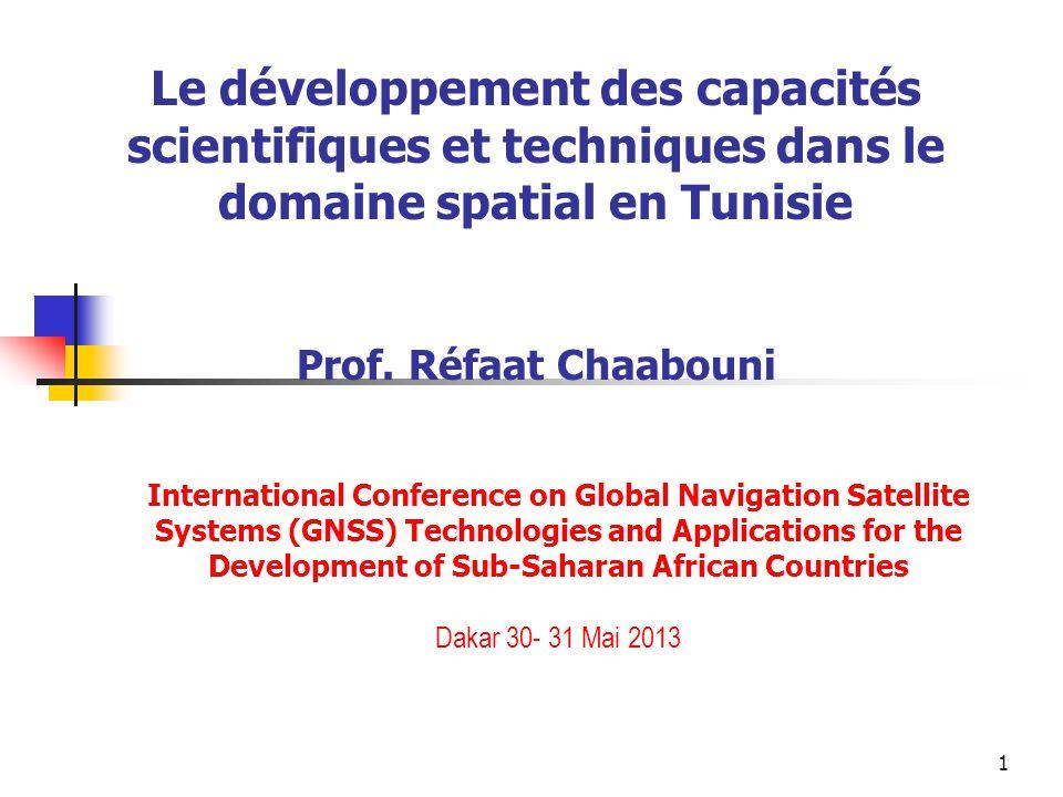 Le développement des capacités scientifiques et techniques dans le domaine spatial en Tunisie