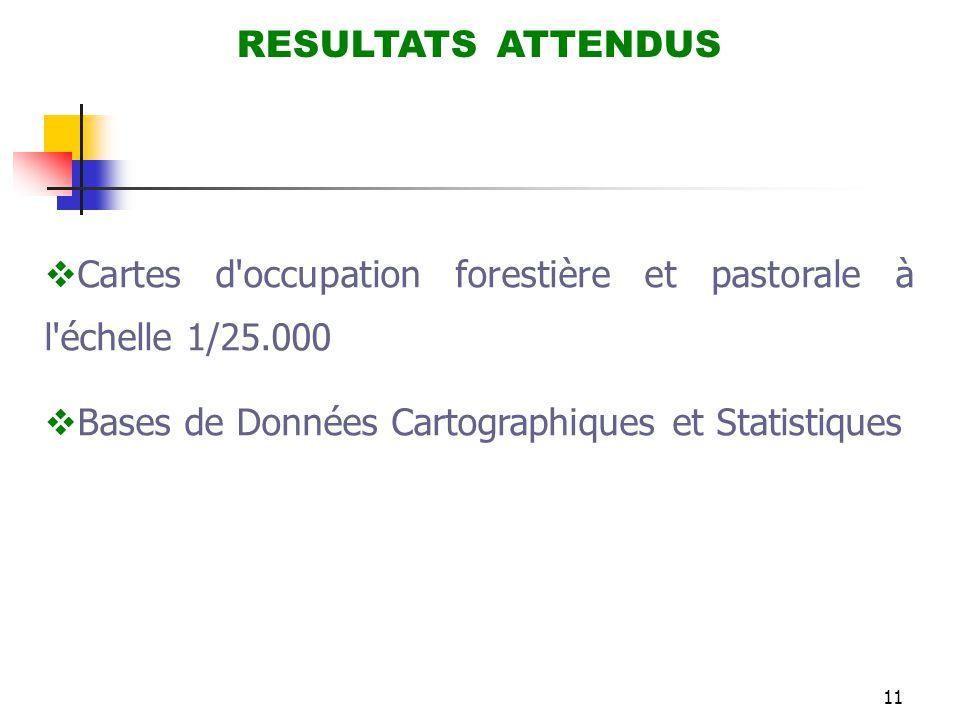 Cartes d occupation forestière et pastorale à l échelle 1/25.000