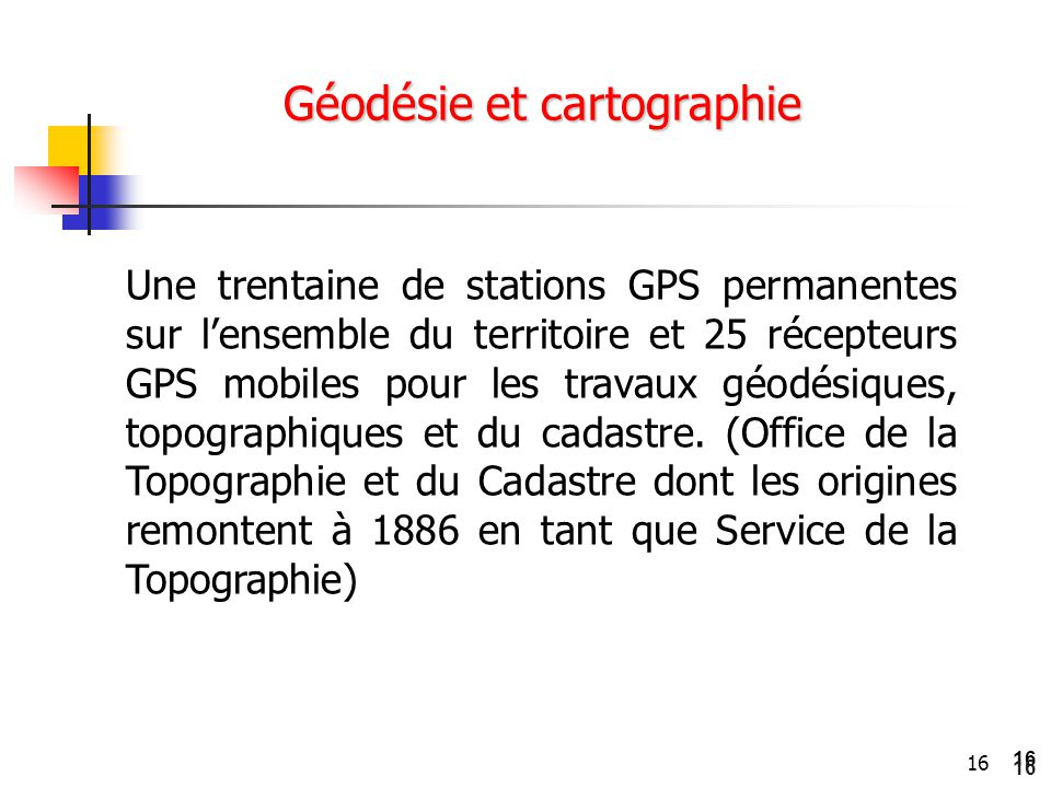 Géodésie et cartographie