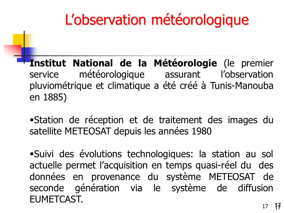 L'observation météorologique