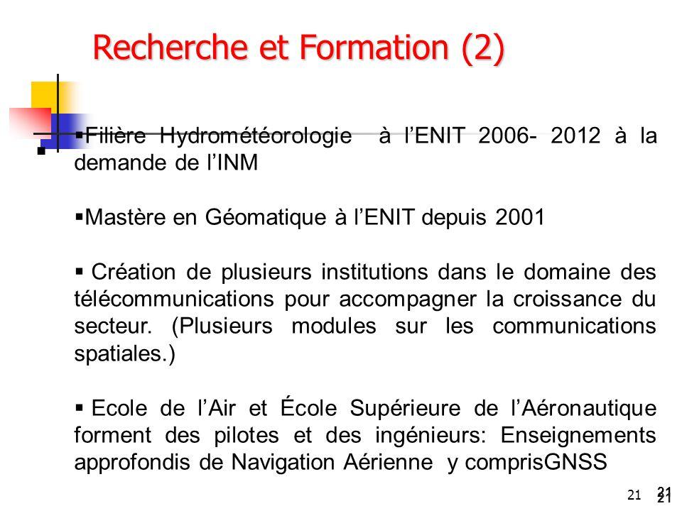 Recherche et Formation (2)