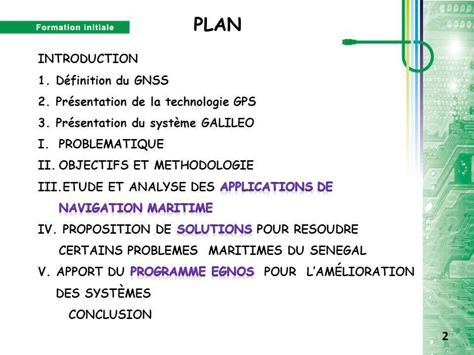 PLAN 2 INTRODUCTION Définition du GNSS