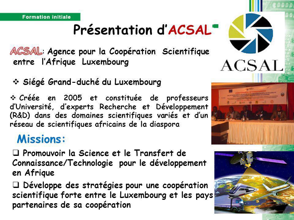 Présentation d'ACSAL Missions: