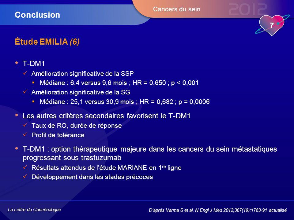 Conclusion Étude EMILIA (6) T-DM1