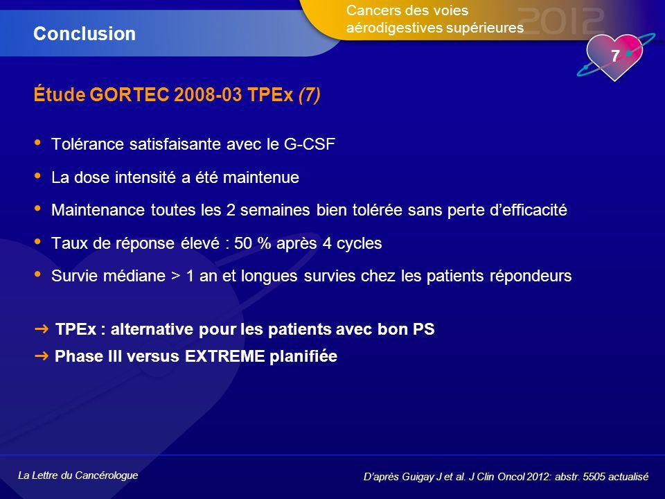 Conclusion Étude GORTEC 2008-03 TPEx (7)