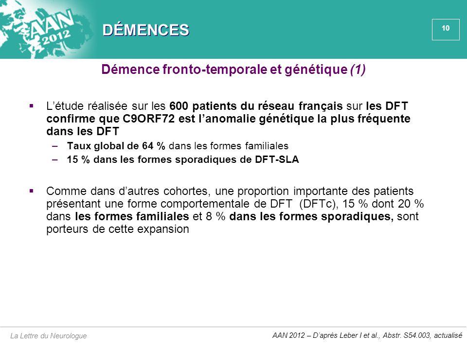 Démence fronto-temporale et génétique (1)