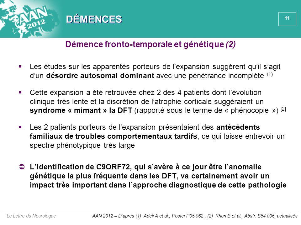 Démence fronto-temporale et génétique (2)