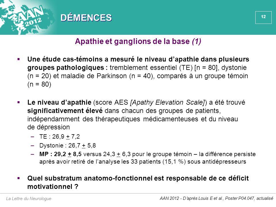 Apathie et ganglions de la base (1)