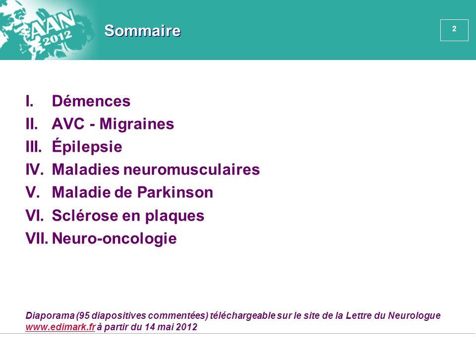 Maladies neuromusculaires Maladie de Parkinson Sclérose en plaques