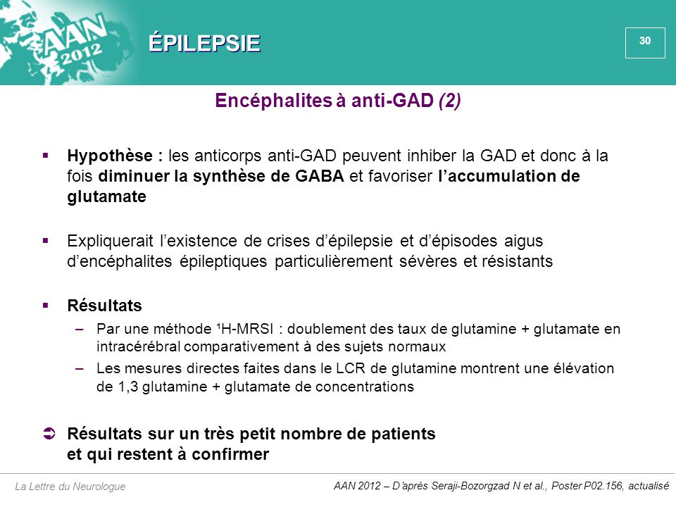 Encéphalites à anti-GAD (2)