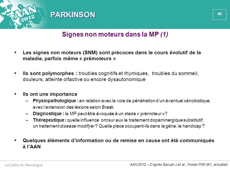 Signes non moteurs dans la MP (1)
