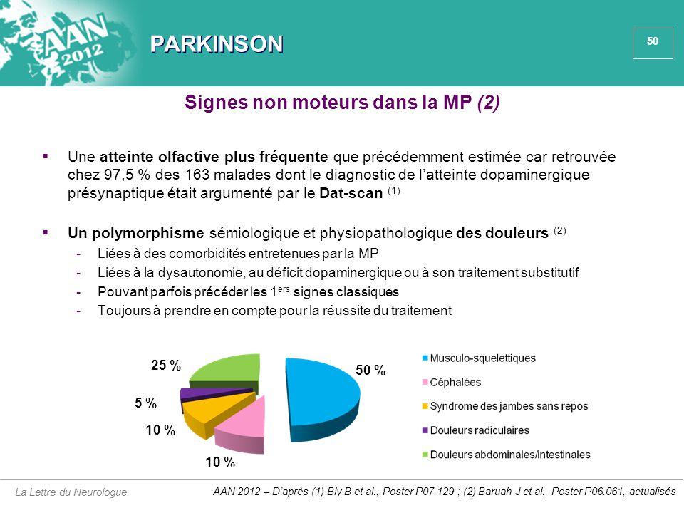 Signes non moteurs dans la MP (2)