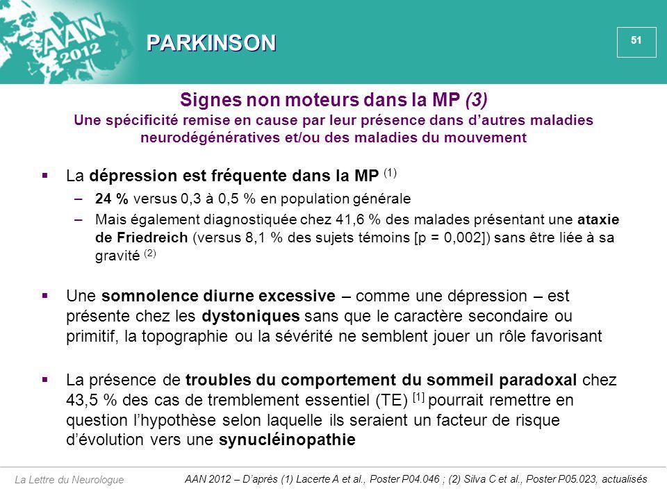 Signes non moteurs dans la MP (3)